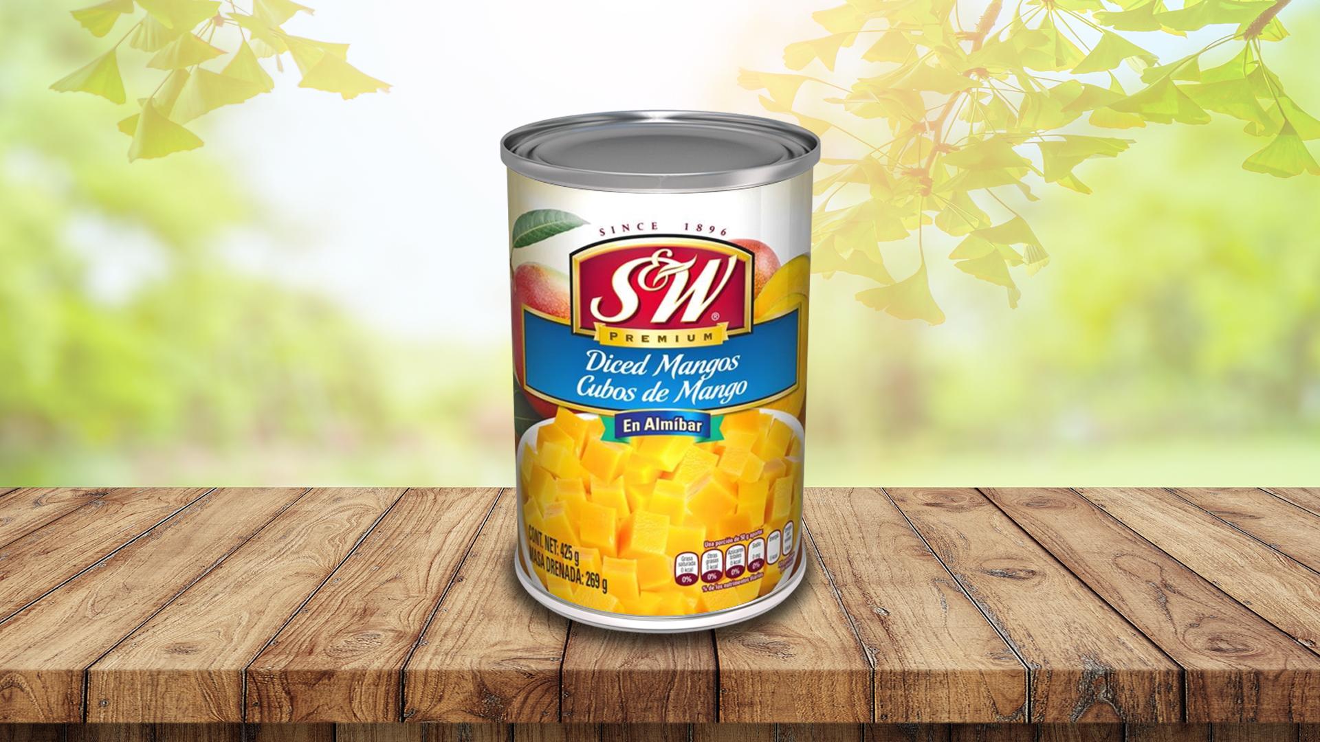 Cubos de Mango en Almíbar de S&W®
