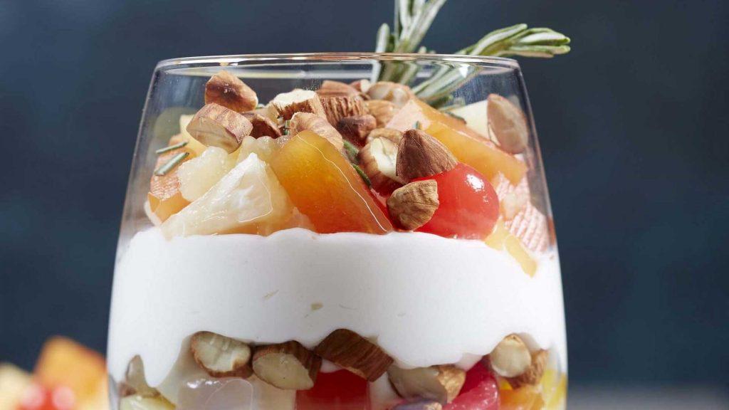 Parfait de Almendras con frutas